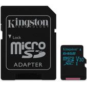 Kingston microSDXC Canvas Go! 64GB 90 MB/s + SD Adapter
