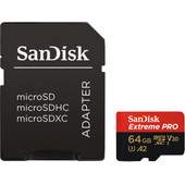 SanDisk MicroSDXC Extreme PRO 64 GB 170MB/s + SD Adapter