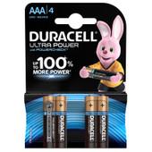 Duracell Ultra Power alkaline AAA batteries 4 pieces