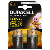 Duracell Plus Power alkaline C-batterijen 2 stuks