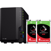 Synology DS218+ avec 2 disques durs Seagate IronWolf de 4 To