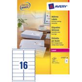 Avery Adresetiketten QuickPEEL Wit 99,1x33,9mm 100 Vellen