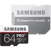 Samsung microSDXC Pro Plus 64 GB Class 10 + SD Adapter
