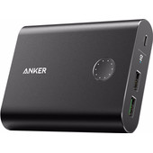 Anker PowerCore+ Powerbank Quick Charge 13.400 mAh Zwart