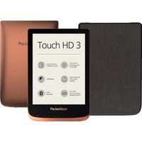 PocketBook Touch HD 3 Cuivre/Noir + PocketBook Shell Book Case