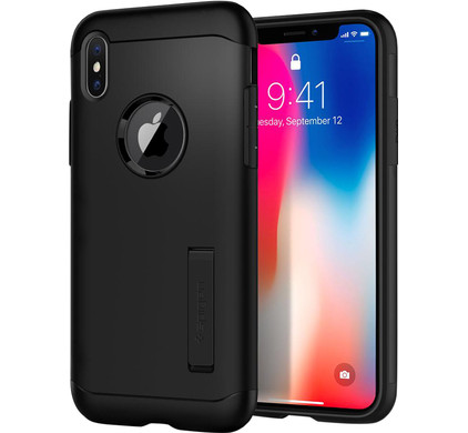 Spigen Slim Armor Apple iPhone X Back Cover Zwart