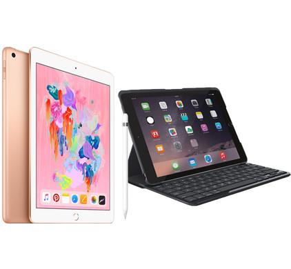 Combipakket - Apple iPad (2018) 128GB Gold + Hoes + Pencil