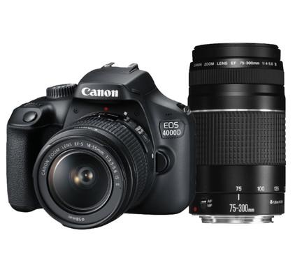 1f5f80c8074b3d Canon EOS 4000D + 18-55 mm DC + 75-300 mm III - Coolblue - avant 23 ...