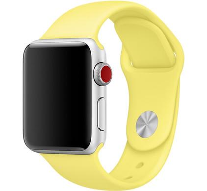 Apple Watch 42mm Siliconen Horlogeband Sport Citroengeel