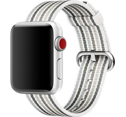 Apple Watch 42mm Nylon Woven Gestreept Grijs