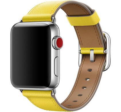 Apple Watch 38mm Klassiek Lederen Polsband Lentegeel