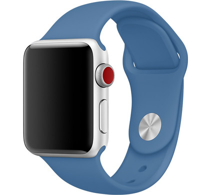 Apple Watch 42mm Siliconen Horlogeband Sport Jeansblauw