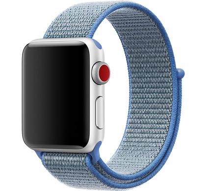 Apple Watch 38mm Nylon Sport Loop Horlogeband Tahoe Blauw