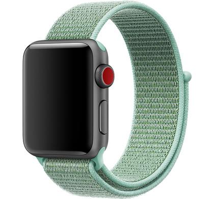 Apple Watch 42mm Nylon Sport Loop Horlogeband Mintgroen
