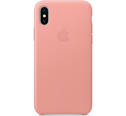 coque iphone x rose pale apple