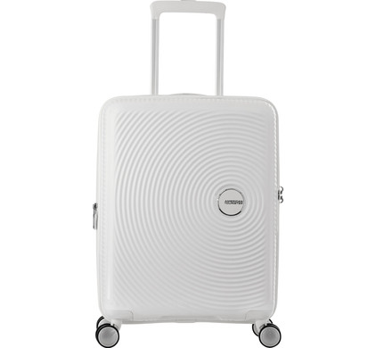 American Tourister Soundbox Expandable Spinner 55cm Pure White