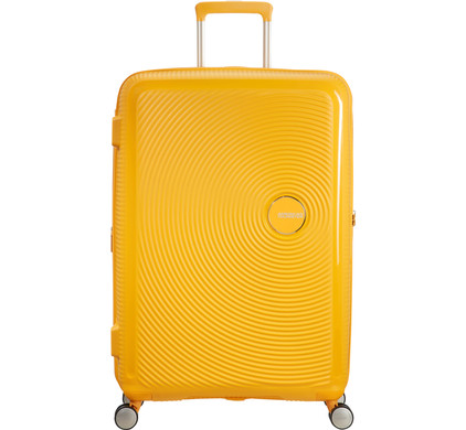 American Tourister Soundbox Expandable Spinner 77cm Golden Yellow