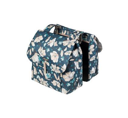 Basil Magnolia Double Bag 35L Teal Blue