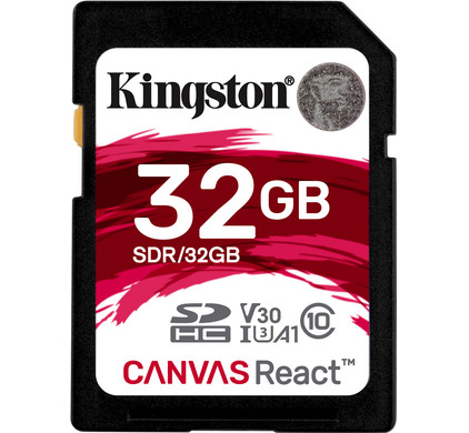 Kingston SDHC Canvas React 32GB 100 MB/s