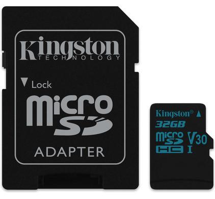 Kingston micro SDHC Canvas Go! 32 Go 90 MB/s + Adaptateur SD