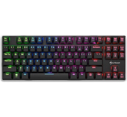 Sharkoon PureWriter TKL RGB Blue Gaming Toetsenbord QWERTY