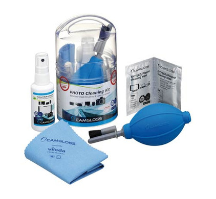 Camgloss Photo Cleaning Kit + geheugen + statief