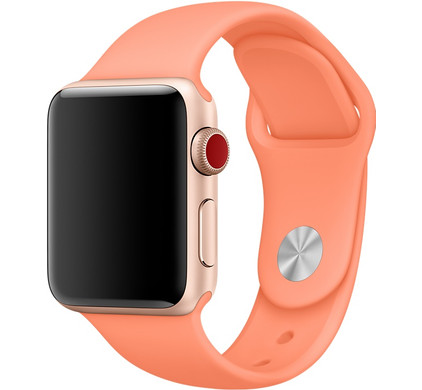 Apple Watch 38mm Siliconen Sport Polsband Perzik