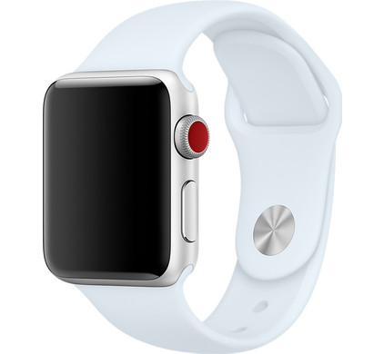 Apple Watch 38mm Siliconen Sport Polsband Hemelsblauw