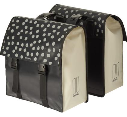 Basil Urban Load Double Bike Bag 53L Black/White