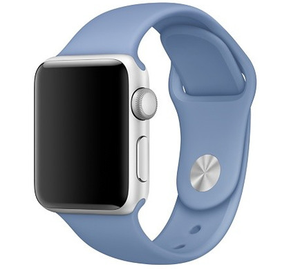 Apple Watch 42mm Siliconen Horlogeband Sport Azuurblauw