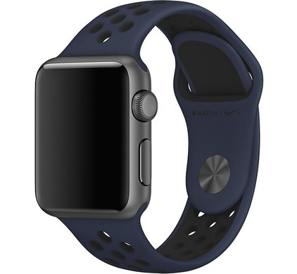 Apple Watch 42mm Polsband Nike Sport Obsidaan/Zwart