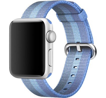 Apple Watch 38mm Nylon Woven Polsband Tahoe Blauw