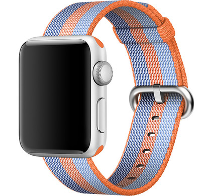 Apple Watch 38mm Nylon Woven Polsband Oranje