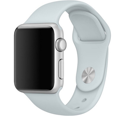 Apple Watch 38mm Siliconen Horlogeband Sport Nevelblauw