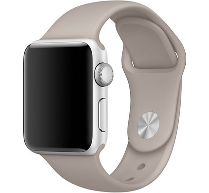 Apple Watch 38mm Siliconen Horlogeband Sport Kiezelsteen