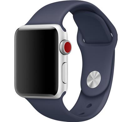 Apple Watch 38mm Siliconen Band Sport Middernachtblauw