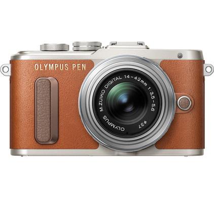 Olympus PEN E-PL8 Bruin + 14-42mm EZ