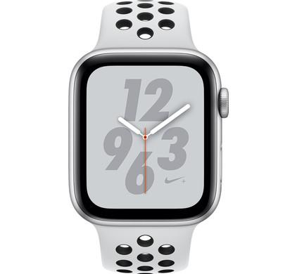 e055debaf4b001 Apple Watch Series 4 40 mm Bracelet Sport Nike+ Argent Aluminium ...