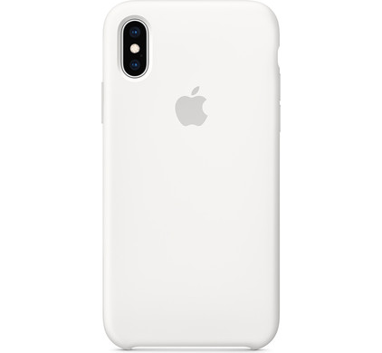 on sale eabbb ed1ec Apple iPhone Xs Silicone Back Cover White