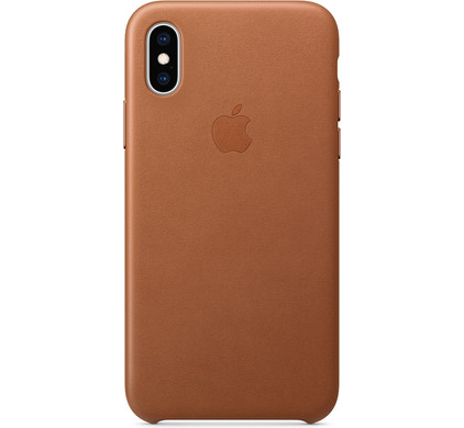 wholesale dealer d96f2 4e273 Apple iPhone XS Max Leather Back Cover Saddle Brown
