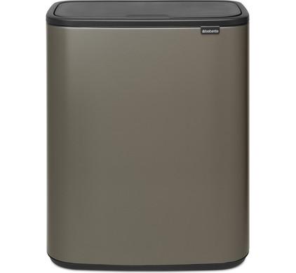 Brabantia Touch Bin 50 Liter Platinum.Brabantia Bo Touch Bin 60 Liter Platinum