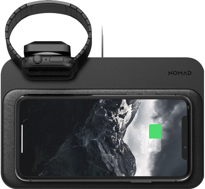 Nomad Base Station Draadloze Oplader met ingebouwde Apple Watch lader
