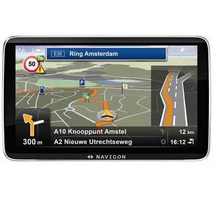 Navigon 92 Plus + Tas + Thuislader + Dashboard Donut