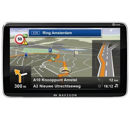 Navigon 92 Premium LIVE + Tas + Thuislader