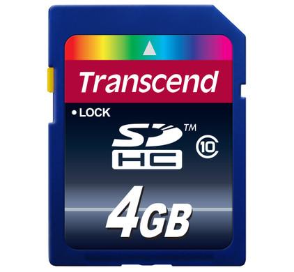 Transcend SDHC 4 GB Class 10 + Geheugenkaartlezer