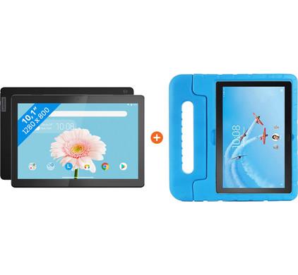 Lenovo Tab M10 2GB 32GB Wifi Zwart + Just in Case Kids Case Blauw
