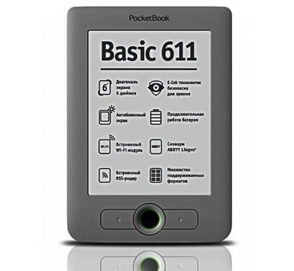 PocketBook 611 eReader Dark Grey + Thuislader