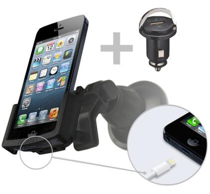 Fix2Car Passive Holder Apple iPhone 5/5S/SE w Suction Cup