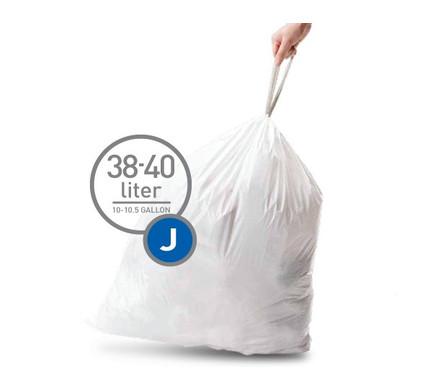 Simplehuman Afvalzak Code J Pocket Liners 38-40 Liter (60 stuks)
