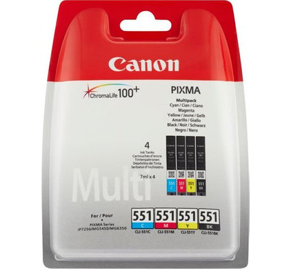 Canon CLI-551BCMY Colour Value Pack 6509B009